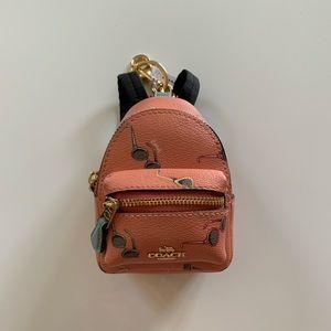 Coach Coral Mini Backpack Key Chain/Coin Purse